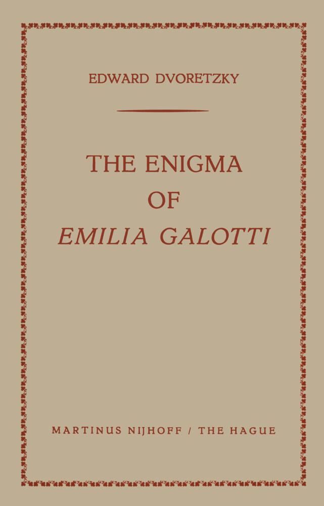 The Enigma of Emilia Galotti als Buch von Edwar...