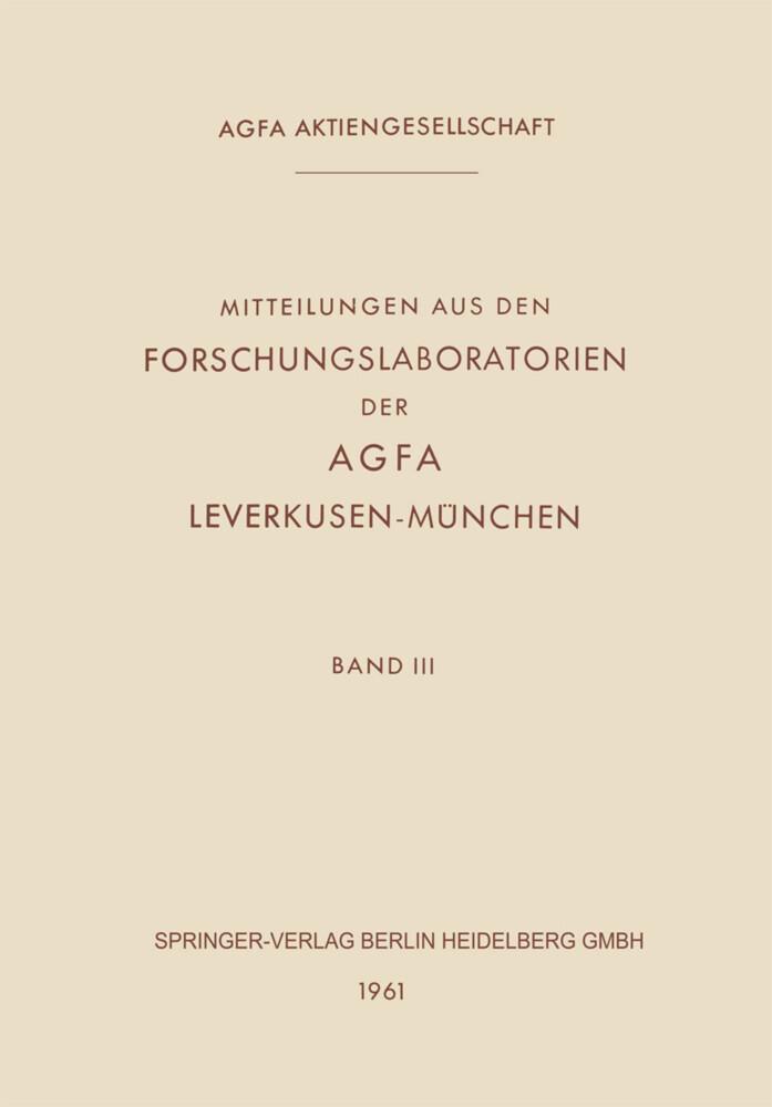 Mitteilungen aus den Forschungslaboratorien der...
