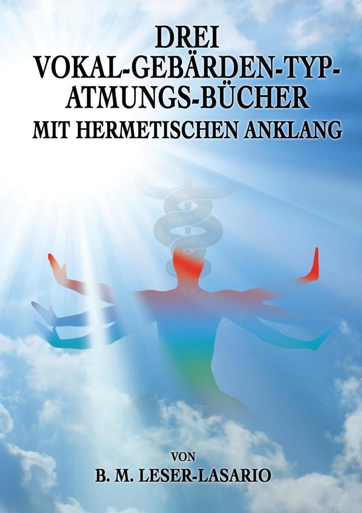 Drei Vokal-Gebärden-Typ-Atmungs- Bücher mit her...