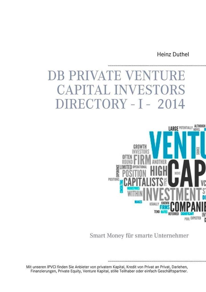 DB Private Venture Capital Investors Directory I - 2014 als eBook