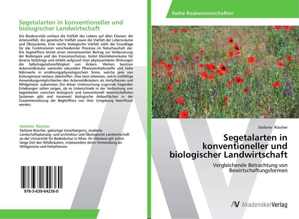 Segetalarten in konventioneller und biologische...