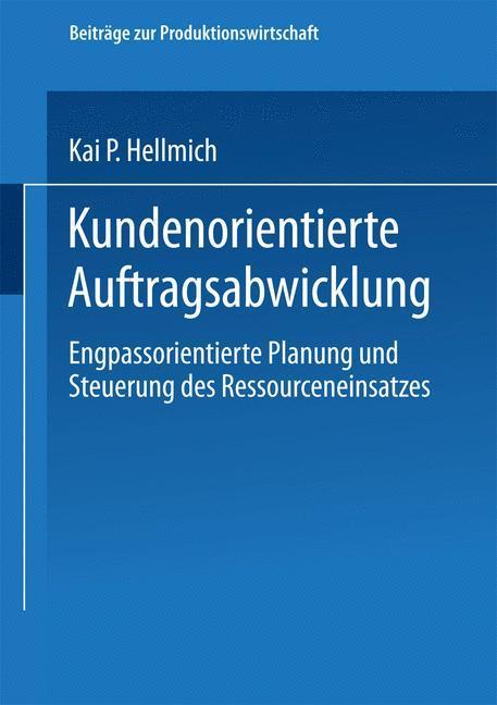 Kundenorientierte Auftragsabwicklung als Buch