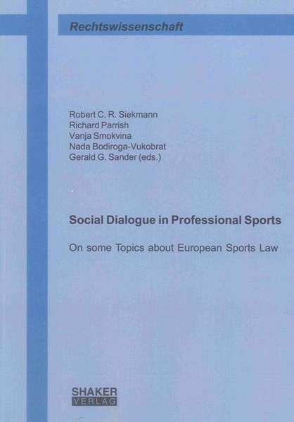 Social Dialogue in Professional Sports als Buch...