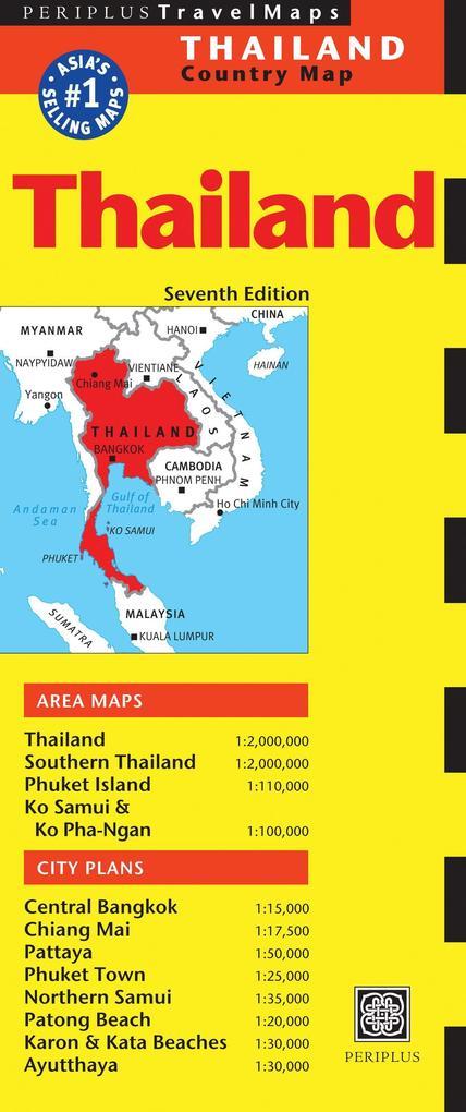 Thailand Travel Map als Buch von Periplus Editions