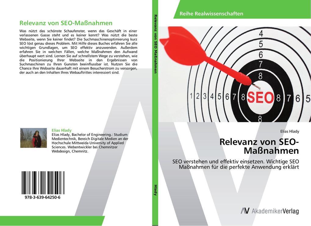 Relevanz von SEO-Maßnahmen als Buch von Elias H...