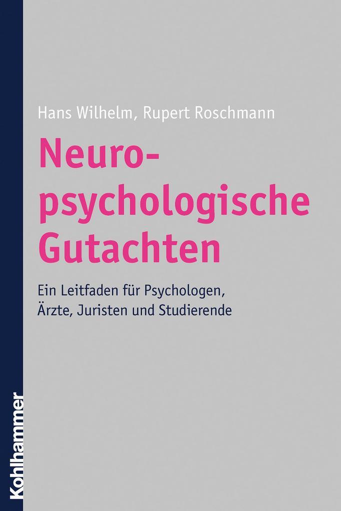 Neuropsychologische Gutachten als eBook Downloa...