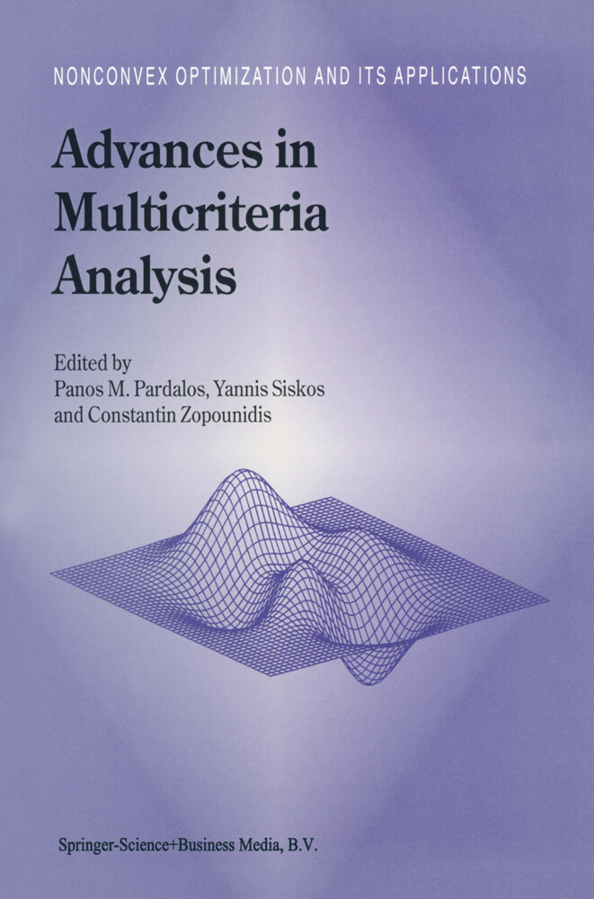 Advances in Multicriteria Analysis als Buch