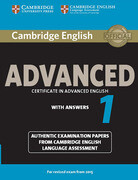 Cambridge English Advanced 1 for updated exam. Student's Book with answers