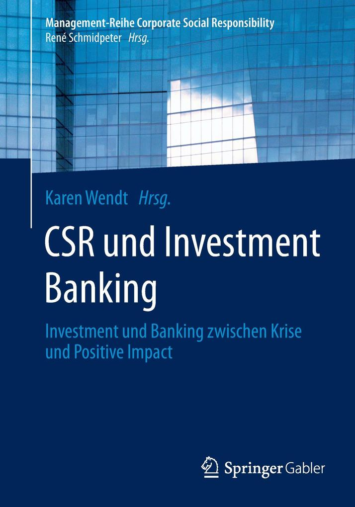 CSR und Investment Banking als Buch von