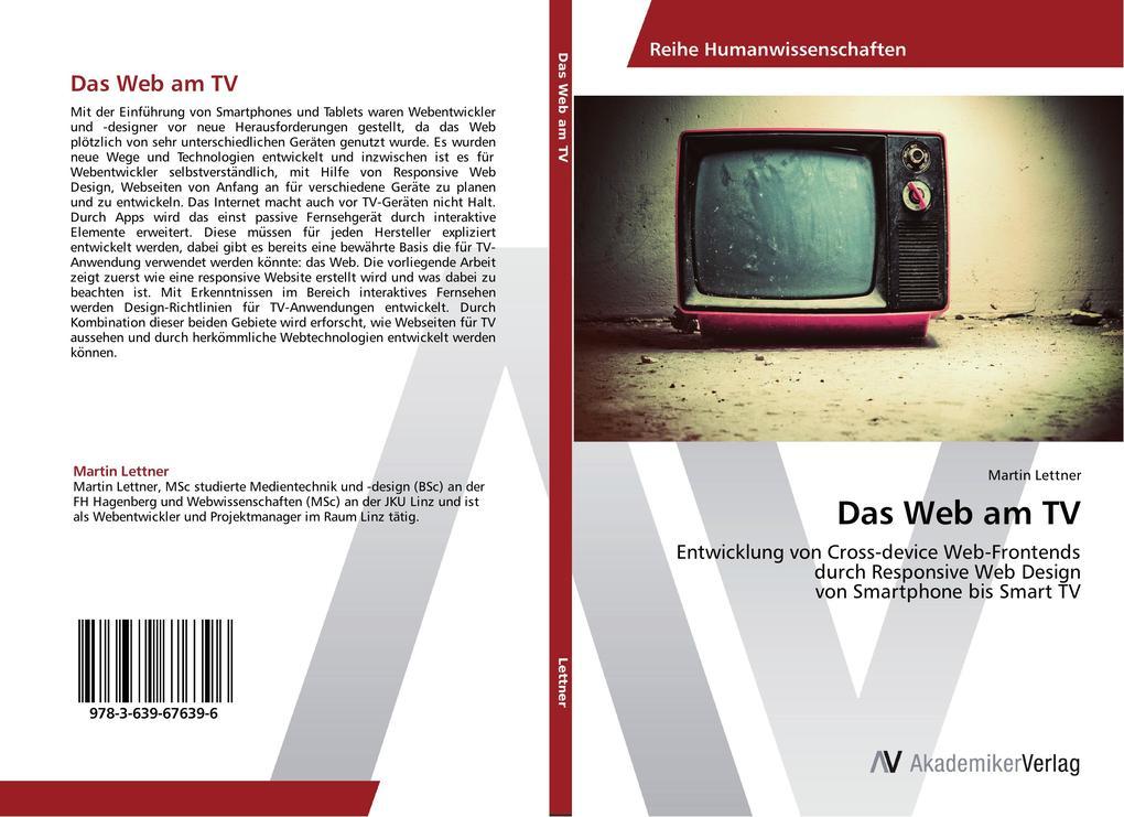 Das Web am TV als Buch von Martin Lettner