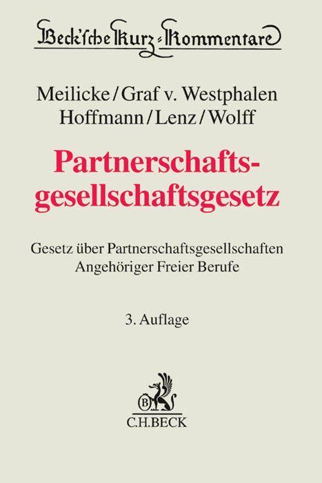 Partnerschaftsgesellschaftsgesetz als Buch von ...