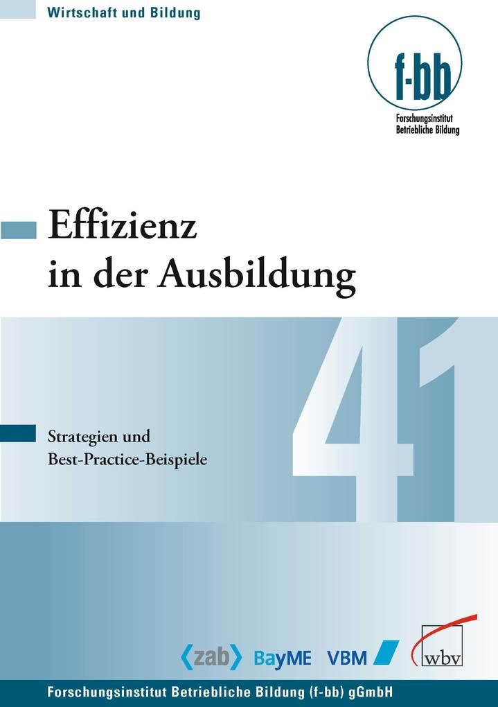 Effizienz in der Ausbildung als eBook Download von