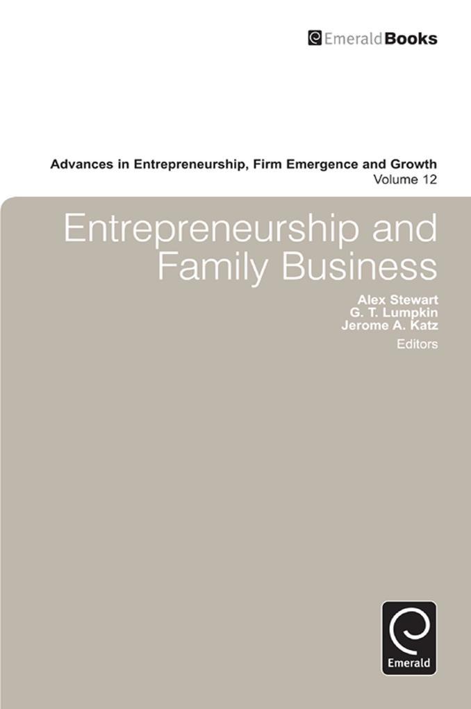 Advances in Entrepreneurship, Firm Emergence an...