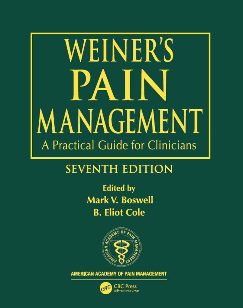 Weiner´s Pain Management als eBook Download von