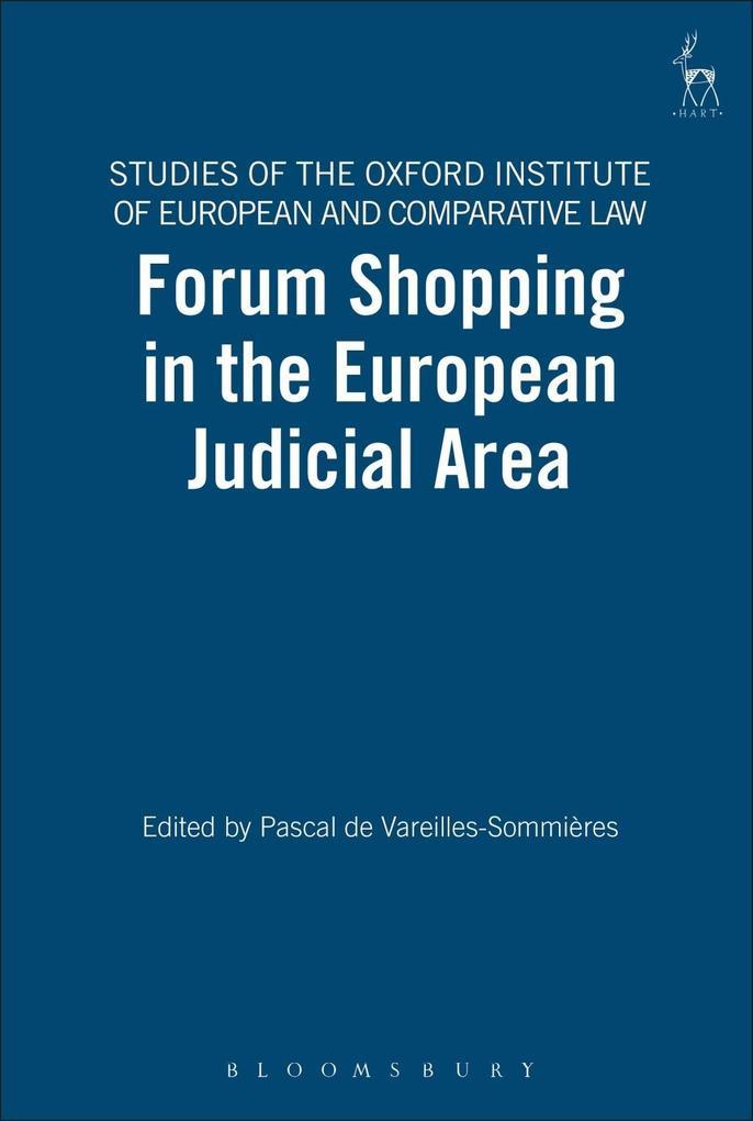 Forum Shopping in the European Judicial Area al...