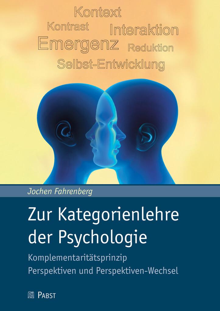 Zur Kategorienlehre der Psychologie als eBook D...