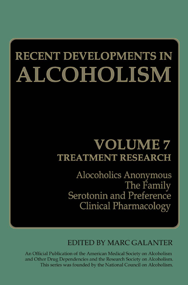 Recent Developments in Alcoholism als Buch