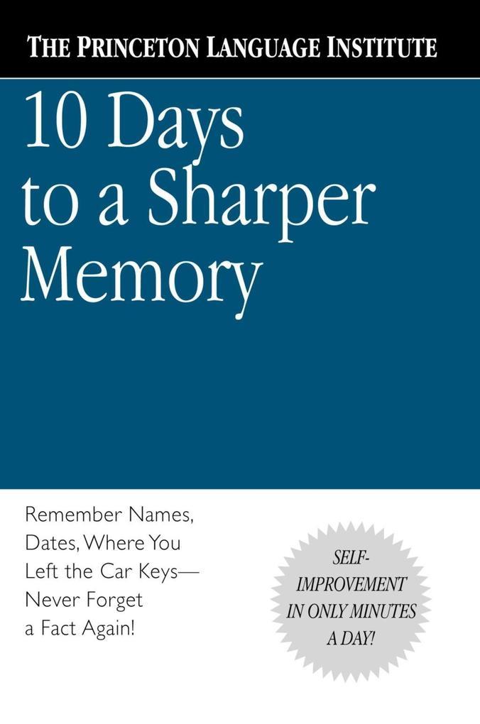 10 Days to a Sharper Memory als eBook Download ...