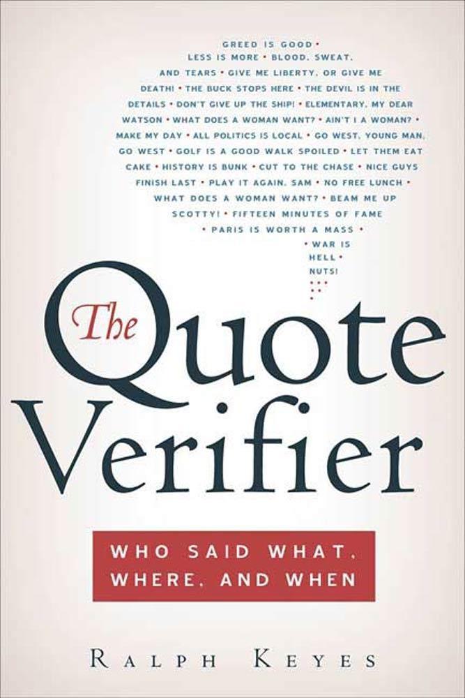 The Quote Verifier als eBook Download von Ralph...