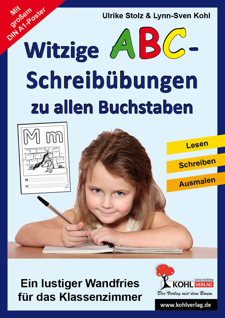 witzige abc poster zum ausmalen ebook ulrike stolz. Black Bedroom Furniture Sets. Home Design Ideas