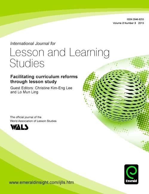 Facilitating curriculum reforms through lesson ...