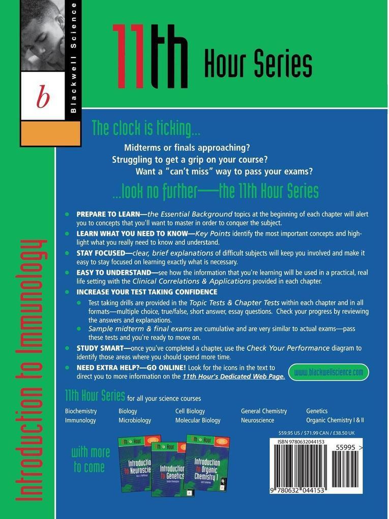 11th Hour: Introduction to Immunology als Taschenbuch