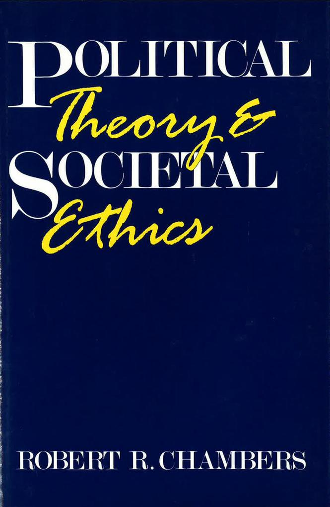 Political Theory/Societal Ethics als Buch