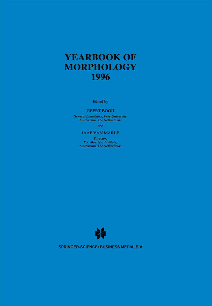 Yearbook of Morphology 1996 als Buch