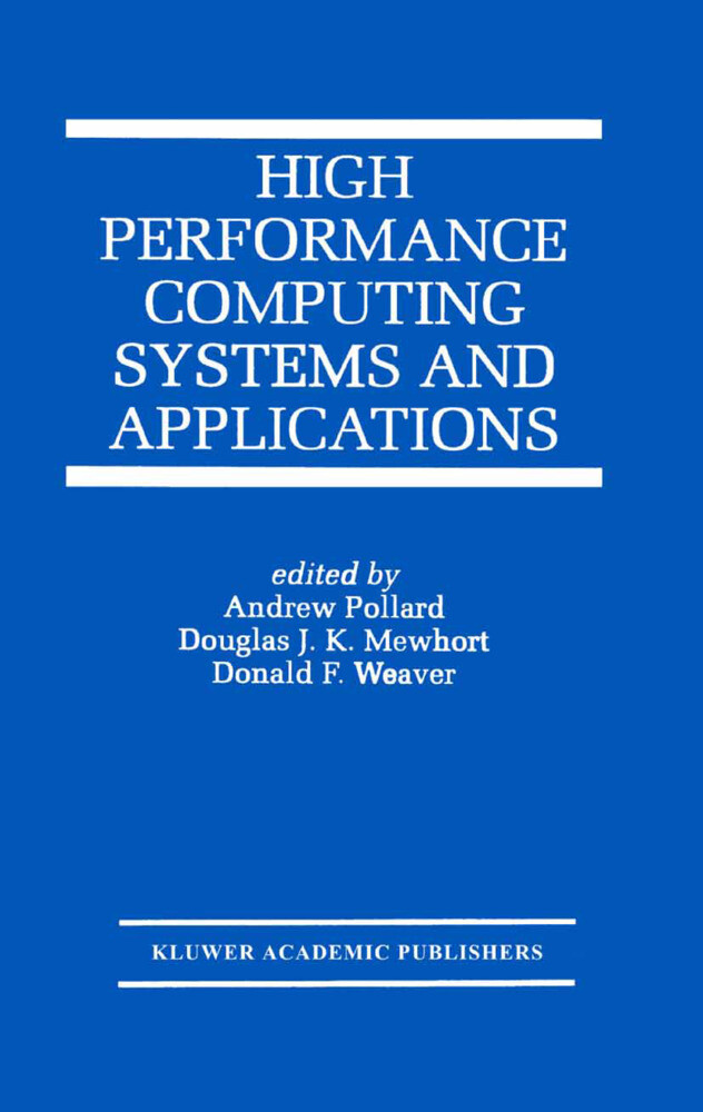 High Performance Computing Systems and Applications als Buch