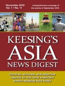 Keesing´s Asia News Digest, November 2010 als e...