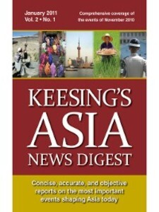 Keesing´s Asia News Digest, January 2011 als eB...
