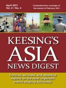 Keesing´s Asia News Digest, April 2011 als eBoo...