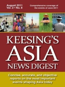 Keesing´s Asia News Digest, August 2011 als eBo...