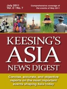 Keesing´s Asia News Digest, July 2011 als eBook...