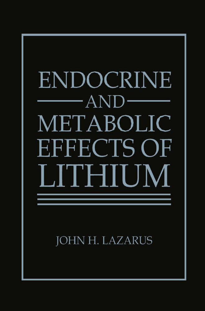 Endocrine and Metabolic Effects of Lithium als Buch