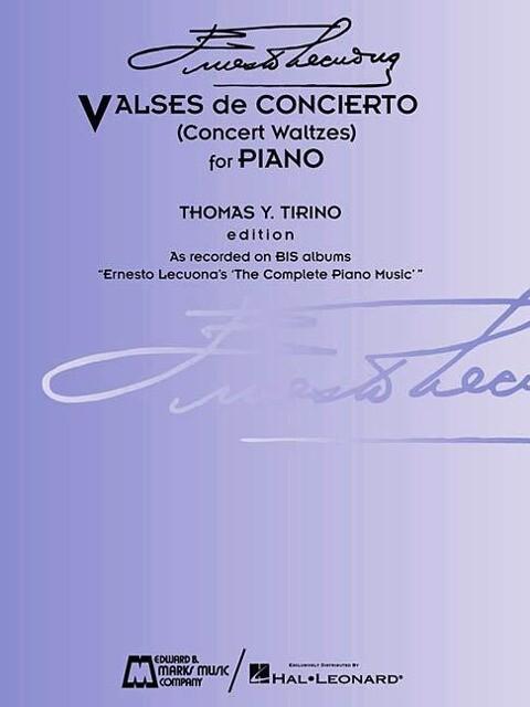 Ernesto Lecuona - Valses de Concierto: Concert Waltzes for Piano als Taschenbuch