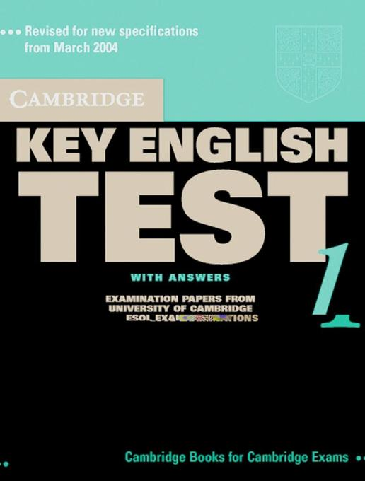 Cambridge Key English Test 1. Self Study. Student's Book with answers. New edition als Buch