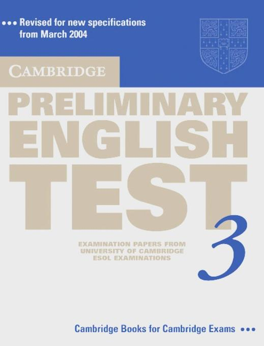 Cambridge Preliminary English Test 3 als Buch