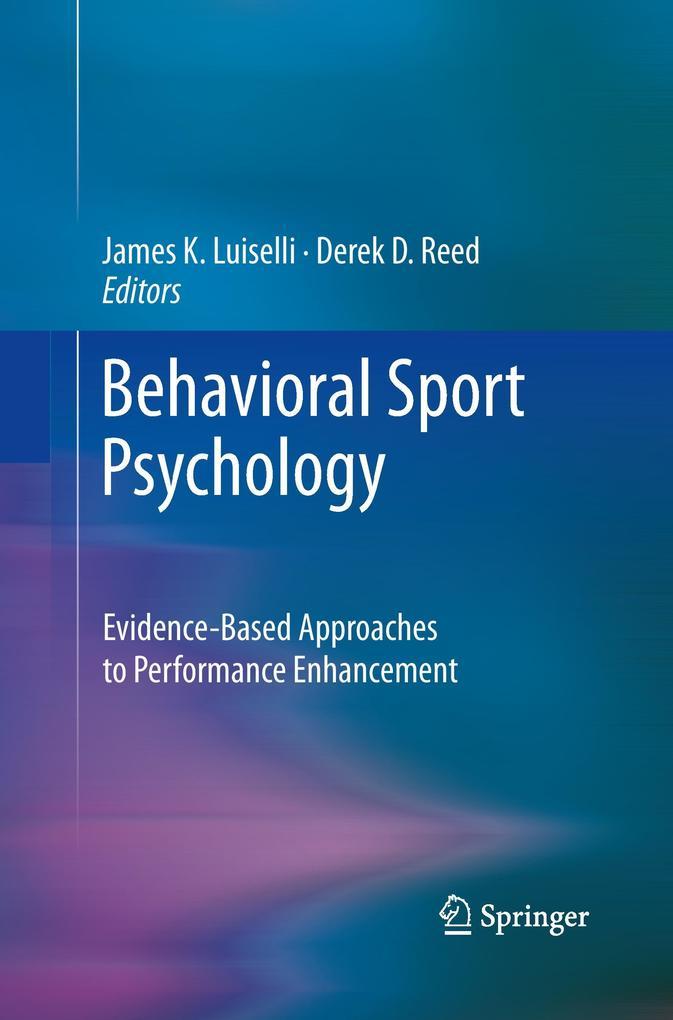 Behavioral Sport Psychology als Buch von