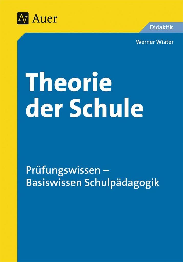 Theorie der Schule als Buch