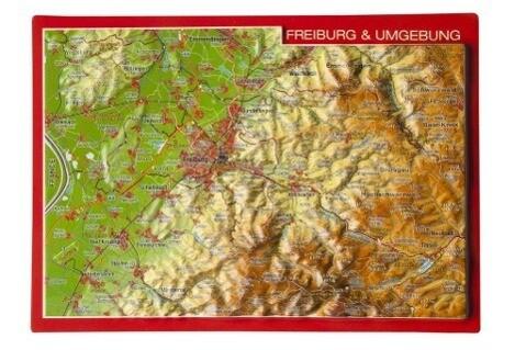 Freiburg & Umgebung, Reliefpostkarte