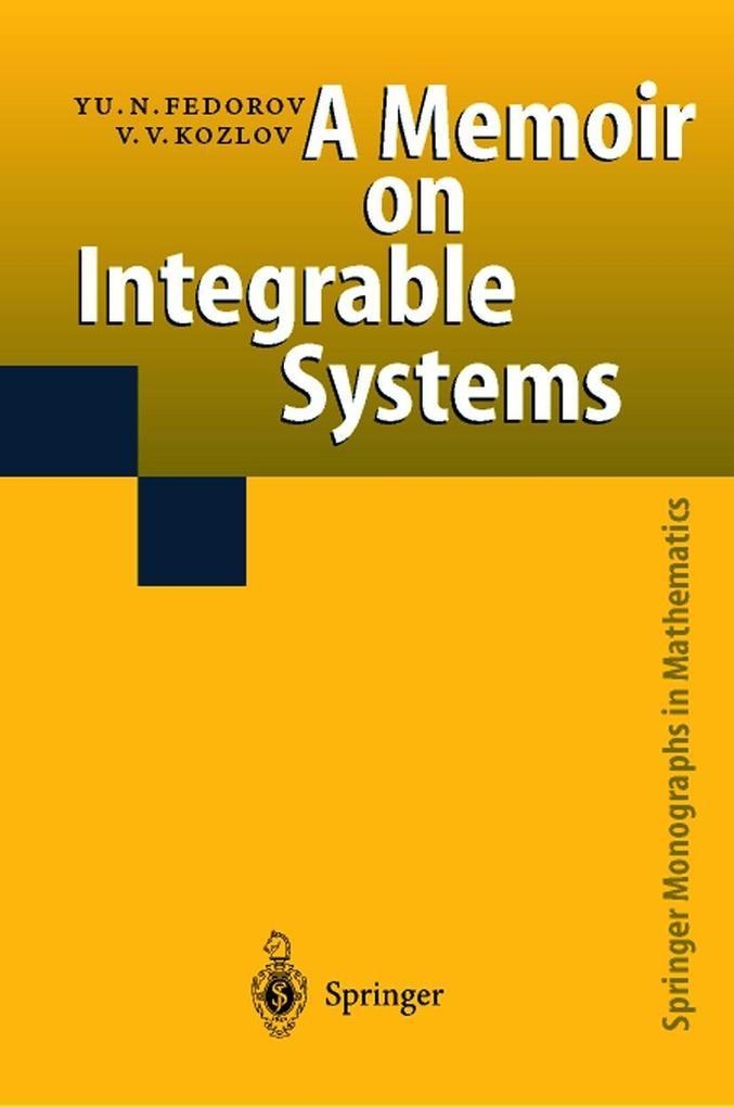A Memoir on Integrable Systems als Buch