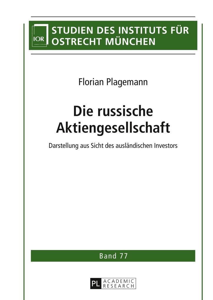 Die russische Aktiengesellschaft als Buch von F...