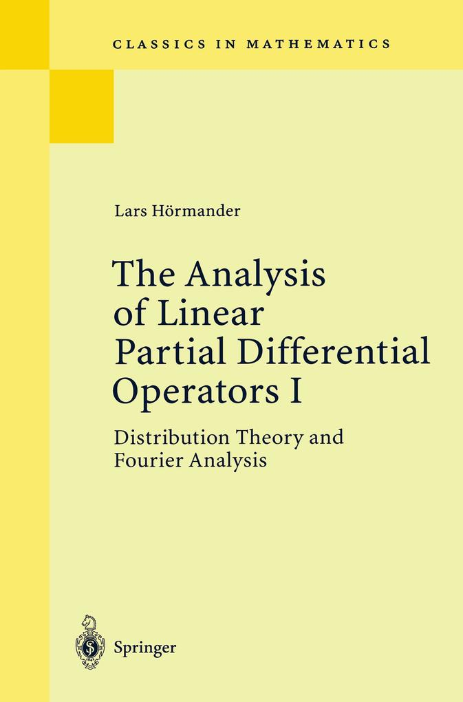 The Analysis of Linear Partial Differential Operators I als Buch