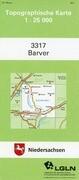 Barver 1 : 25 000. (TK 3317/N)