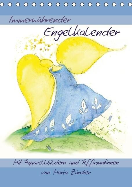Immerwährender Engelkalender - Mit Aquarellbild...