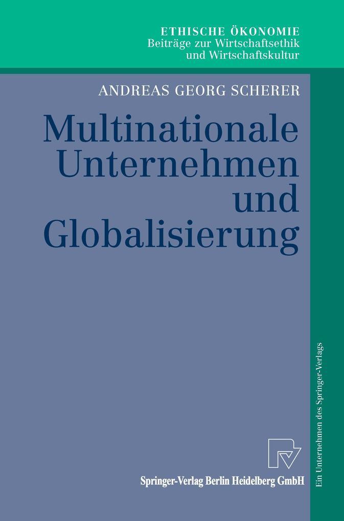 Multinationale Unternehmen und Globalisierung als Buch