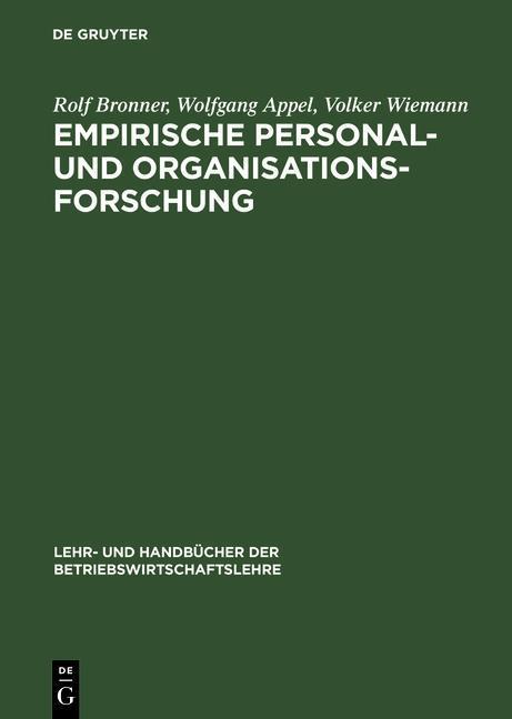 Empirische Personal- und Organisationsforschung als eBook pdf