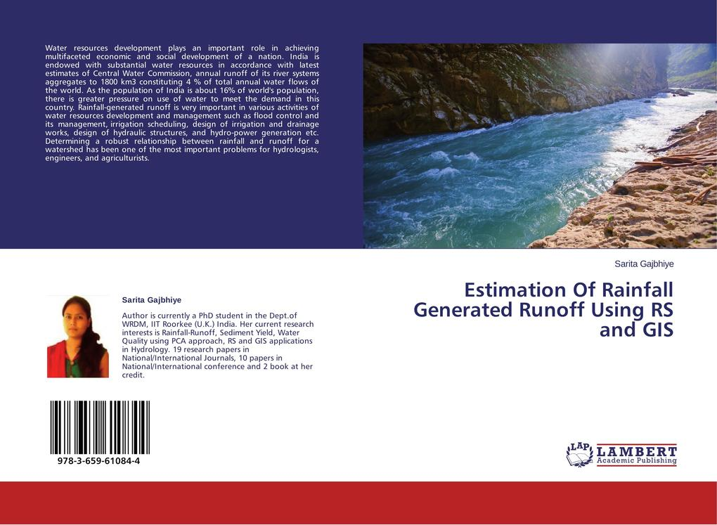 Estimation Of Rainfall Generated Runoff Using RS and GIS als Buch (gebunden)