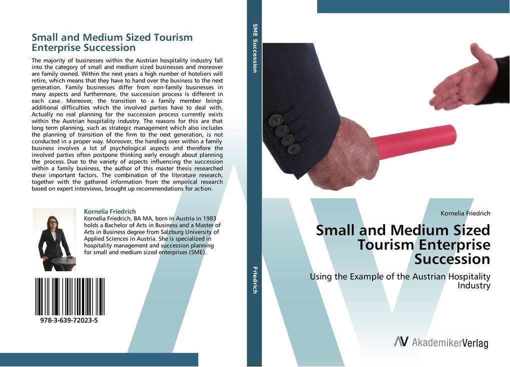 Small and Medium Sized Tourism Enterprise Succession als Buch (gebunden)